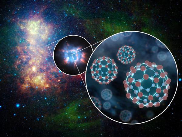Astrônomos encontram fulerenos no espaço